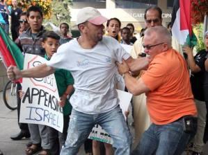 Muslim beats a Jew